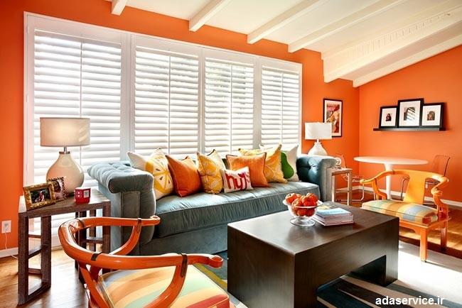 دکوراسیون به رنگ نارنجی